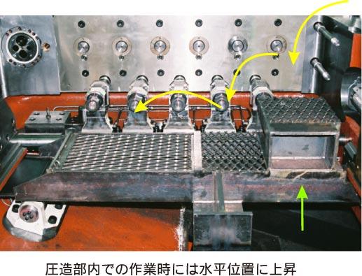 圧造部内エレベーター 説明2